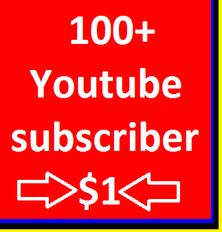 Instant Fast 100+YouTube channel subscribers