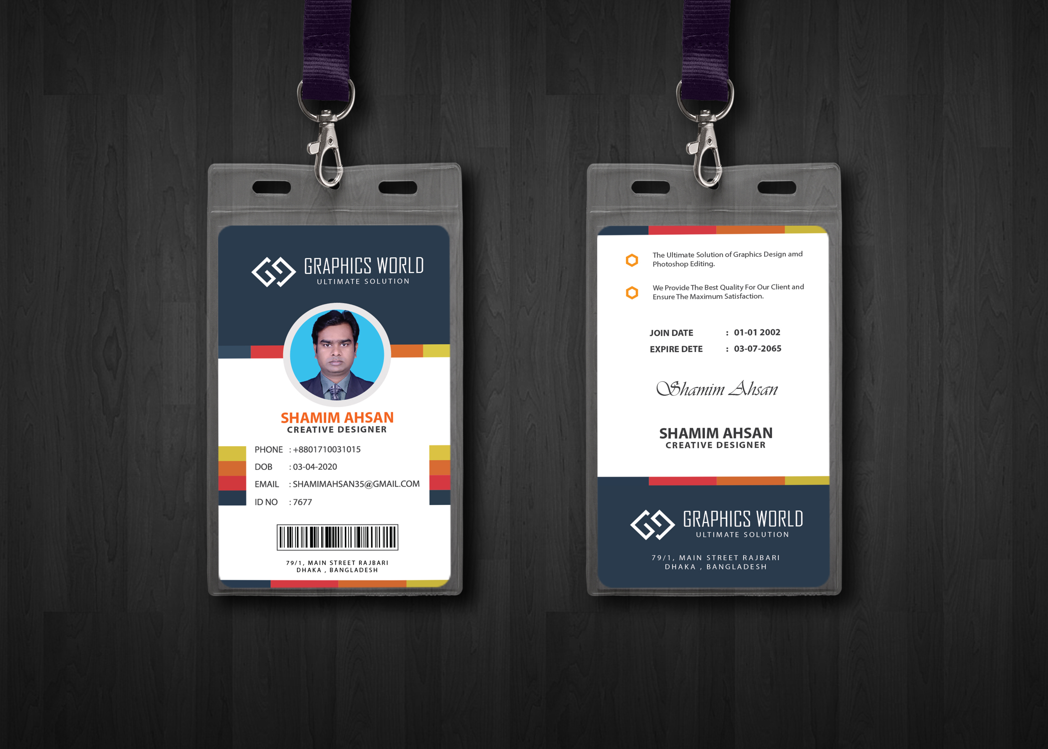Design Creative And PROFESSIONAL Id Card Within 24 Hours