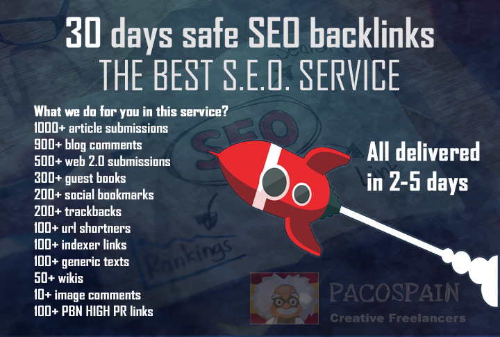 do a perfect 30 days safe SEO backlinks service to Rank FIRST