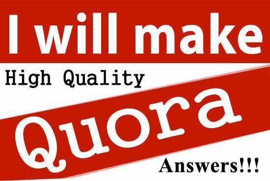 Create 30 unique quora answer backlink