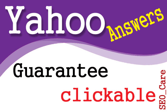 Create your website in 20 Yahoo Answers level 3 with Clickable link