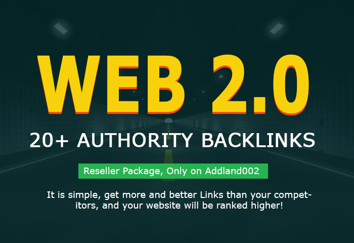 add 30+ Web 2.0 High PR Authority Backlinks within 24 hrs