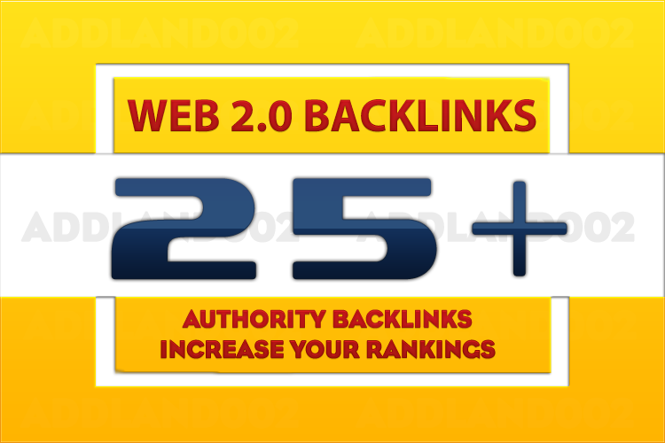 help you rank First in Google 25+ Web 2.0 High Page Rank Authority Backlinks