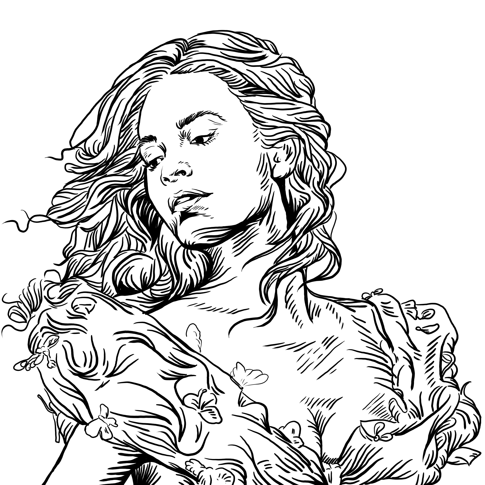 draw lineArt of your photo