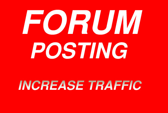 Promote your Wesbsite by 3 high quality forum posting