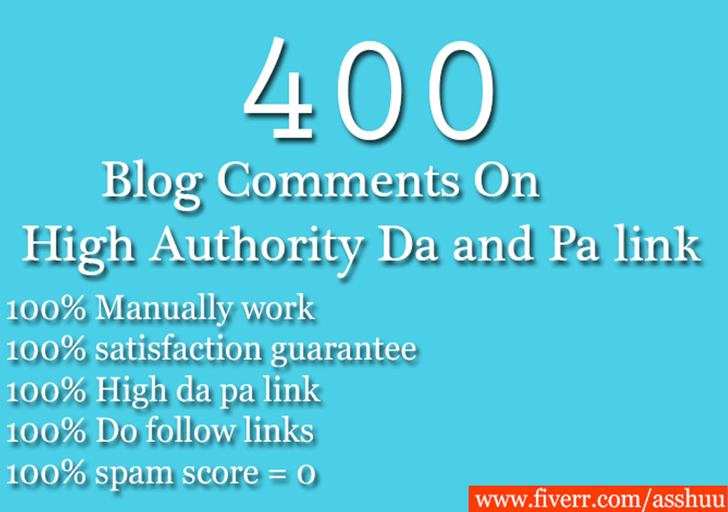 100 Unique referring domains blog  comments on high da pa links