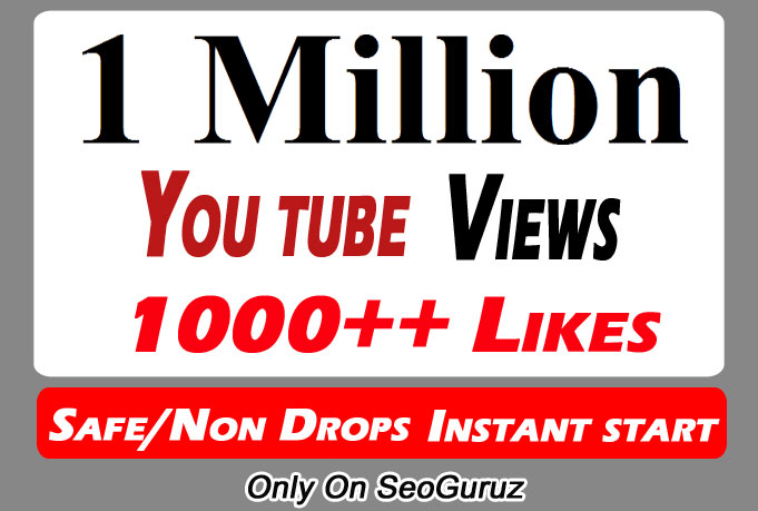 1 Million or 1000,000 YouTube Views With 1k Likes