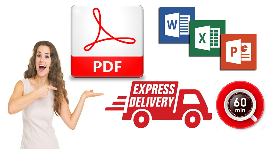Make convert Word, Excel to PDF And PDF to Word,  Excel etc.