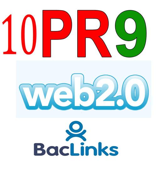 10 PR9 DO Follow Web2.0 Backlinks