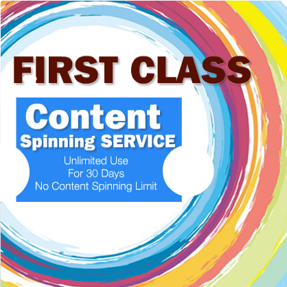 Unlimited High Quality Content Spinning for 30 Days
