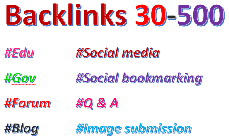 Building 40 High quality  Edu/Gov backlinks