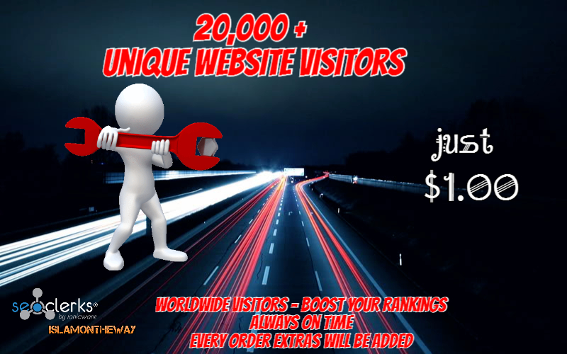 20,000 Website TRAFFIC Promote Your Website Today And Boost Rankings