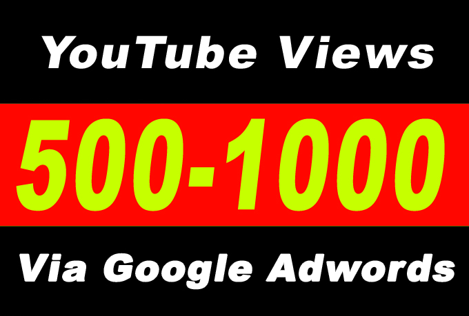 Youtube Video Promotion 500-600 Audience Via Google Adwords