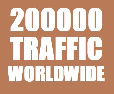 200000 Web Traffic Worldwide for 20 days