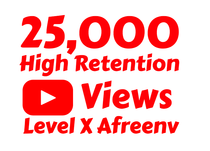 add 25,000+ High Quality Youtube views and 200+ Youtube Likes