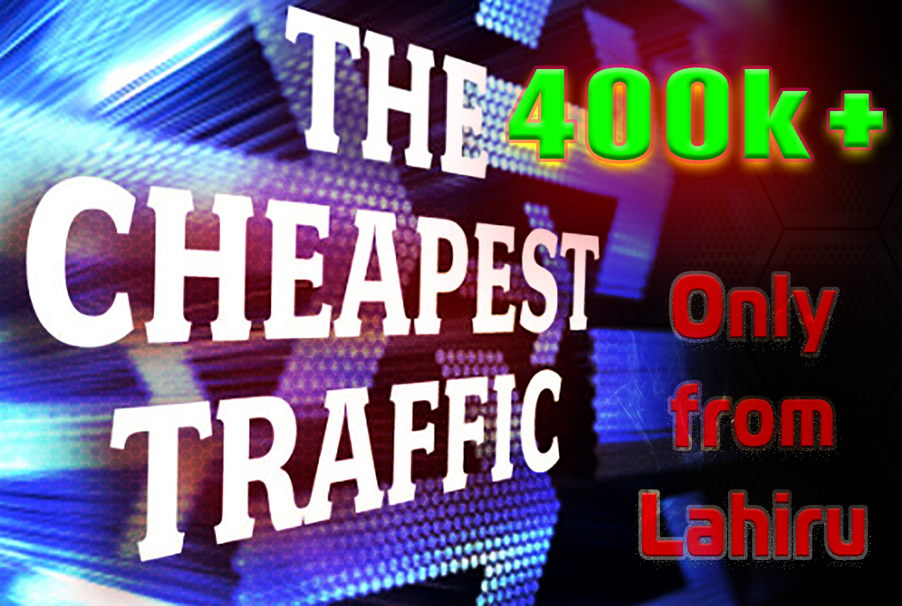 Send 400000+ Human Traffic by Google Twitter Bing You...