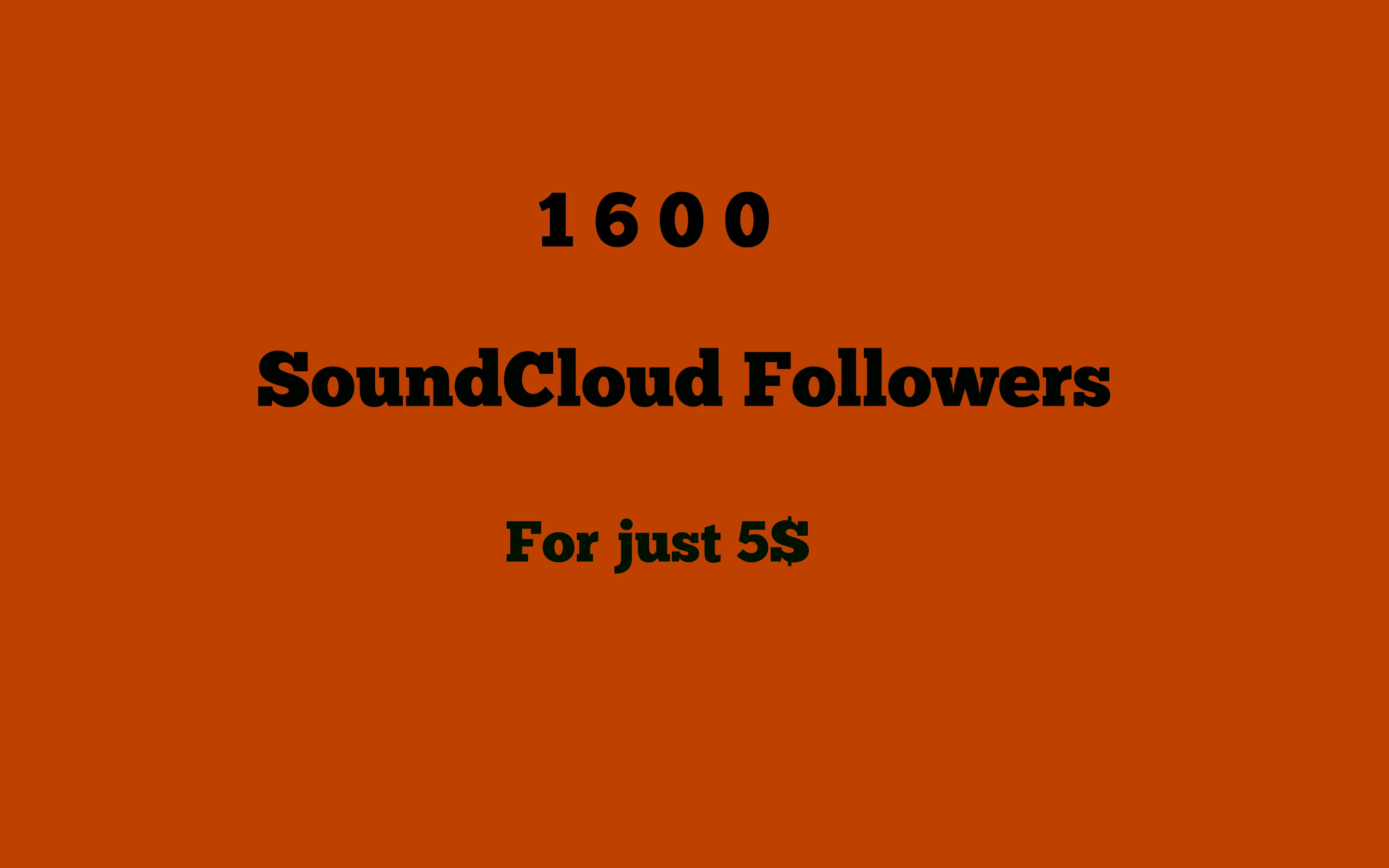 1600+ SoundCloud Followers