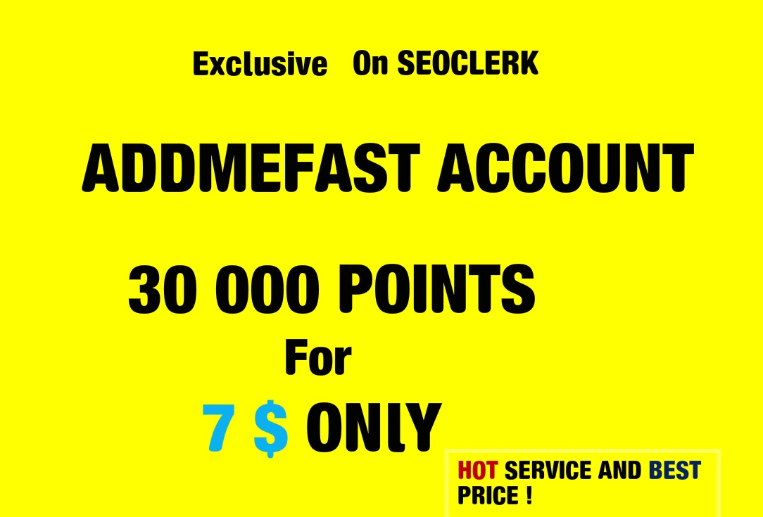 give you 30,000 points addmefast within 2 hours