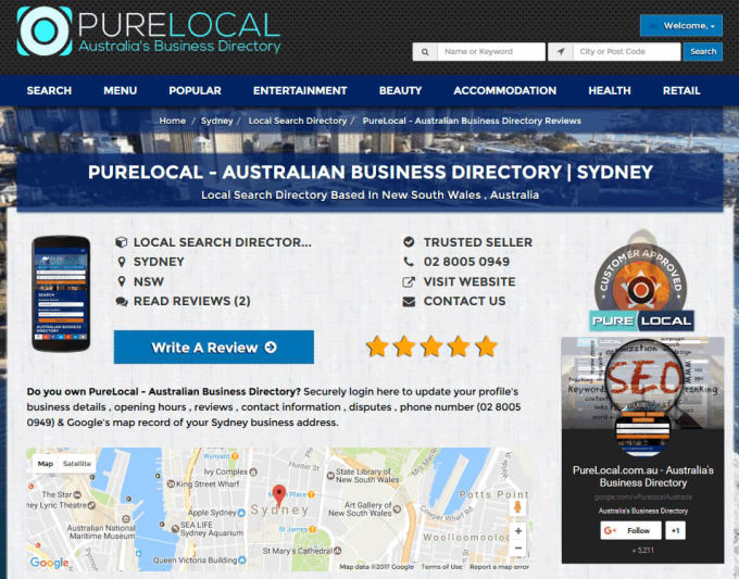 Australian Business Directory Listing