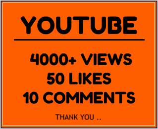 4000+ YouTube views with 50+ likes & 10 custom comments