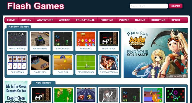create flash gaming site