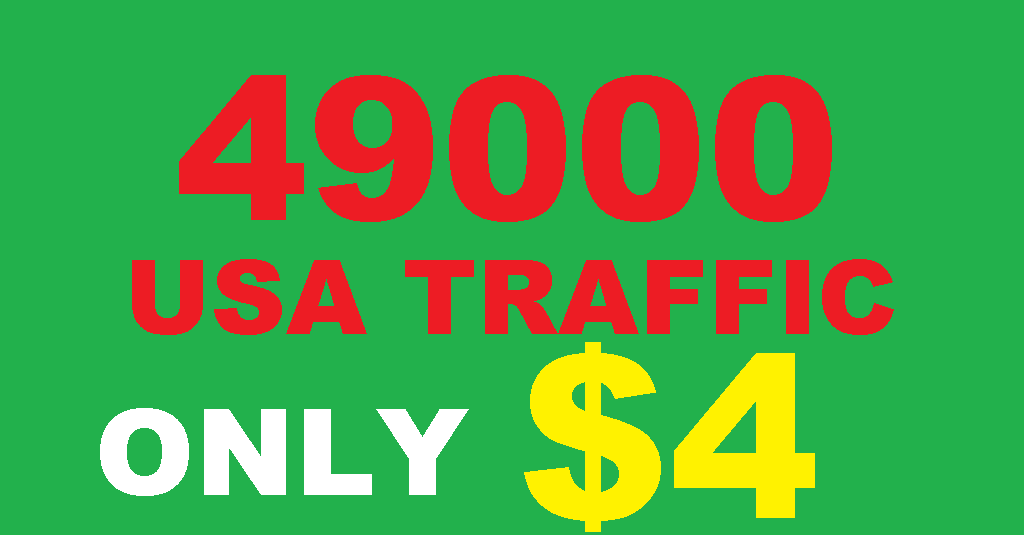 bring 49000 real usa web traffic