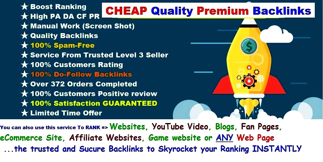 INSTANT Rank BOOSTER SEO BULLET Backlink - Give You Guaranteed ASSORTED Premium High DA TF CF & 10 High PR4 - PR9 Backlinks To SKYROCKET Your Ranking To Google Page 1 - LIMITED Time Offer Hurry Now