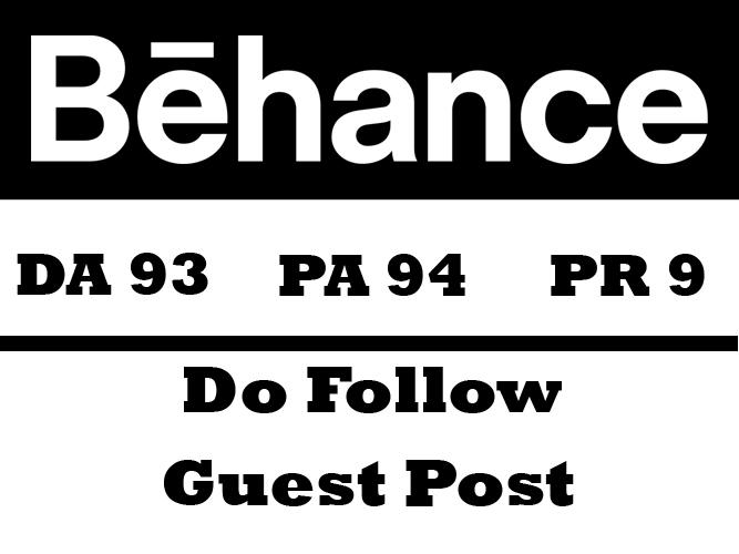 publish a Guest Post on Behance DA 93