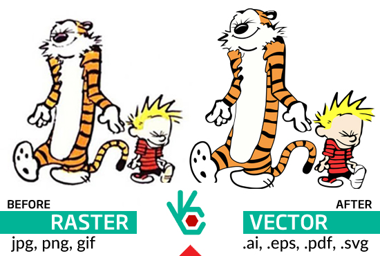 Convert to vector any image or logo