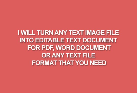Convert 3000 words from an Image file into an Editable Text File
