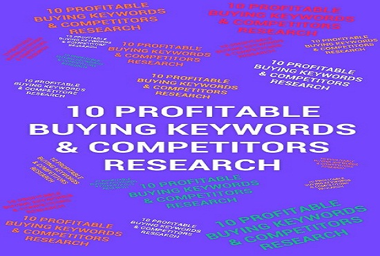 10 profitable buying Keywords and competitor research