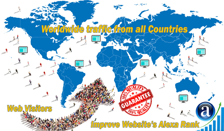 Send 5000 real Worldwide website traffic visitors from all Countries