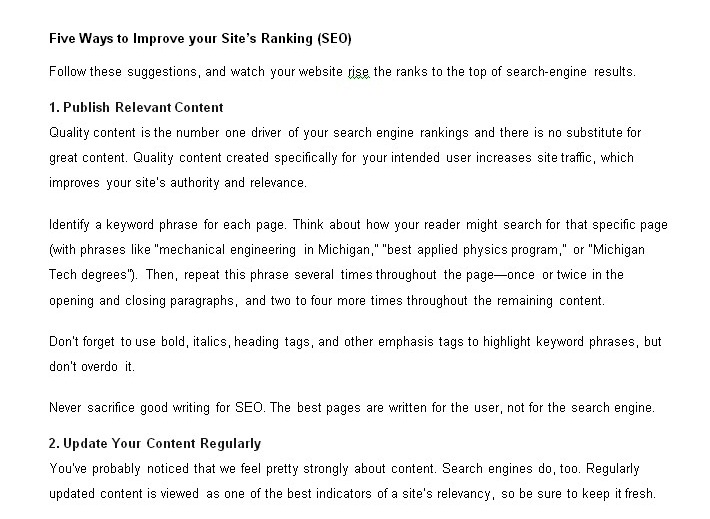Five Ways to Improve your Site&rsquo s Ranking SEO