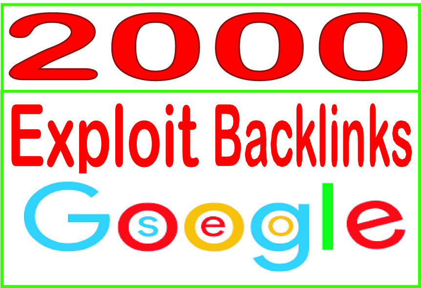 Do 2000 HQ. Exploit PR6 to PR10 Backlinks