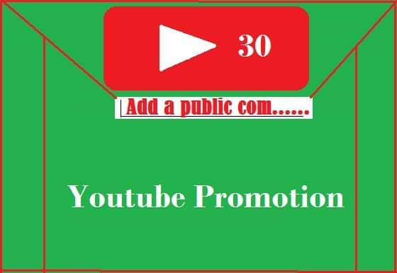 Youtube promotion real users