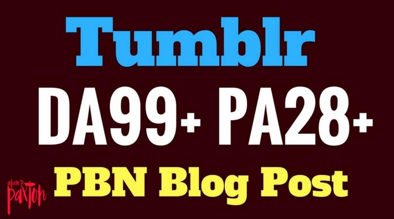 10 Tumblr PBN Blog Post DA99+ PA30+