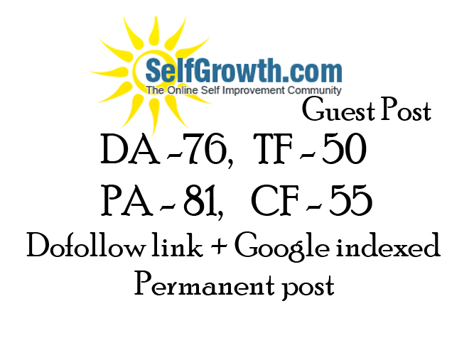 publish a guest post on SelfGrowth with dofollow link