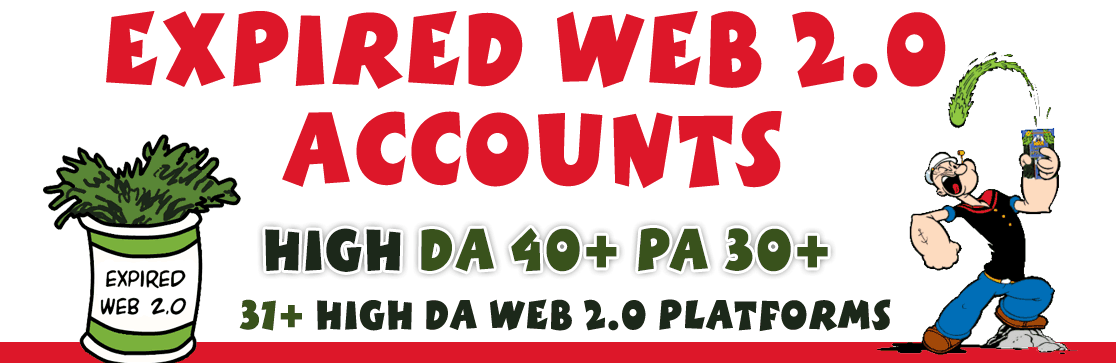 Expired Web 2.0 Accounts DA 40+ PA 30+ | 2019 SEO QUICK Ranking Method