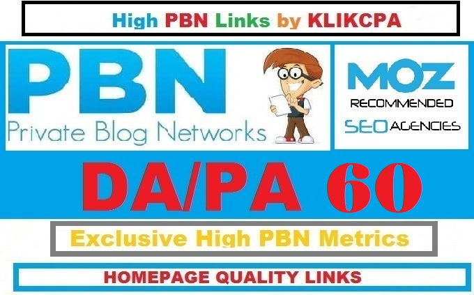 Permanent 6 Manual HIGH DA PA 60 Dofollow Homepage PBN Links