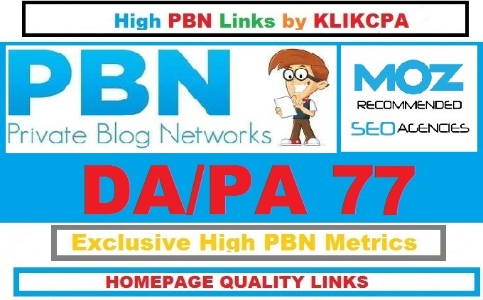 Permanent 6 Manual HIGH DA PA 77 Dofollow Homepage PBN Links