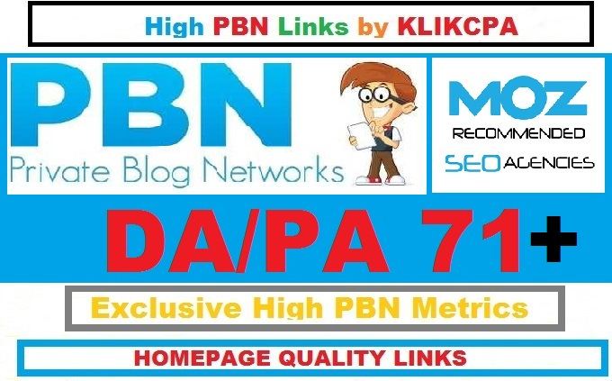 Permanent 5 Manual HIGH DA PA 71+ Dofollow Homepage PBN Links