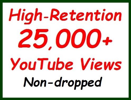 20k+ to 25k Views non-dropped and safety Guaranteed, 500+ likes extra bonus