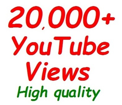 20,000++ YouTube Views, High Retention, Fully safe and Non-dropped Guaranteed