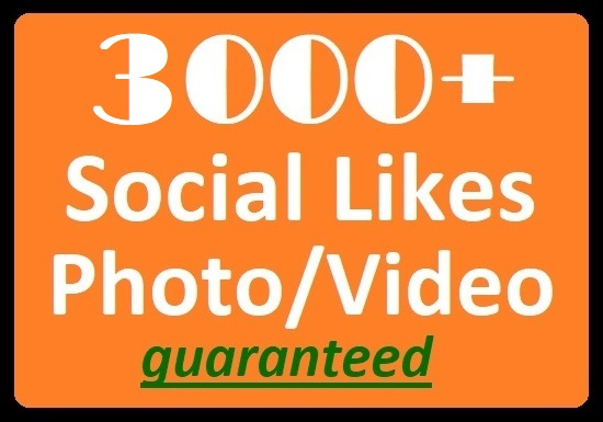 Get Instant, 3000+ Social Likes on Video, Post High...