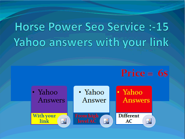 Promote your website link in 15 Yahoo Answers HIGH level accounts