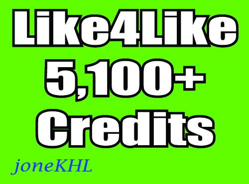 5,100+ Like4Like Credits Cheap Price