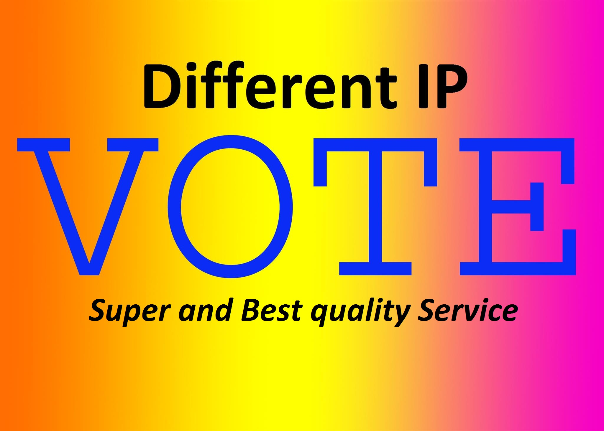 Add 500 votes for any online voting contest