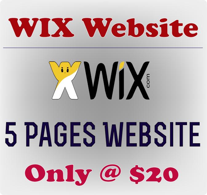 Get 5 Page Wix Website