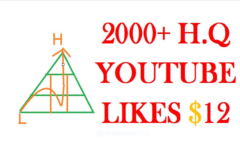 give you 2000++ high quality youtube video likes Or 600+ subscribes
