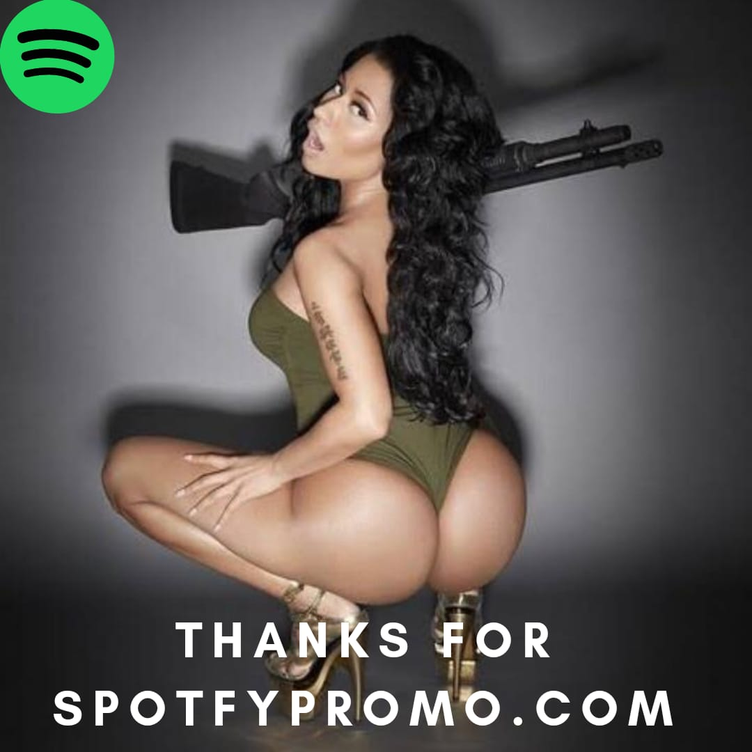 SPOTFY PLAYLIST and PLAY message for large orders. Stream play promo